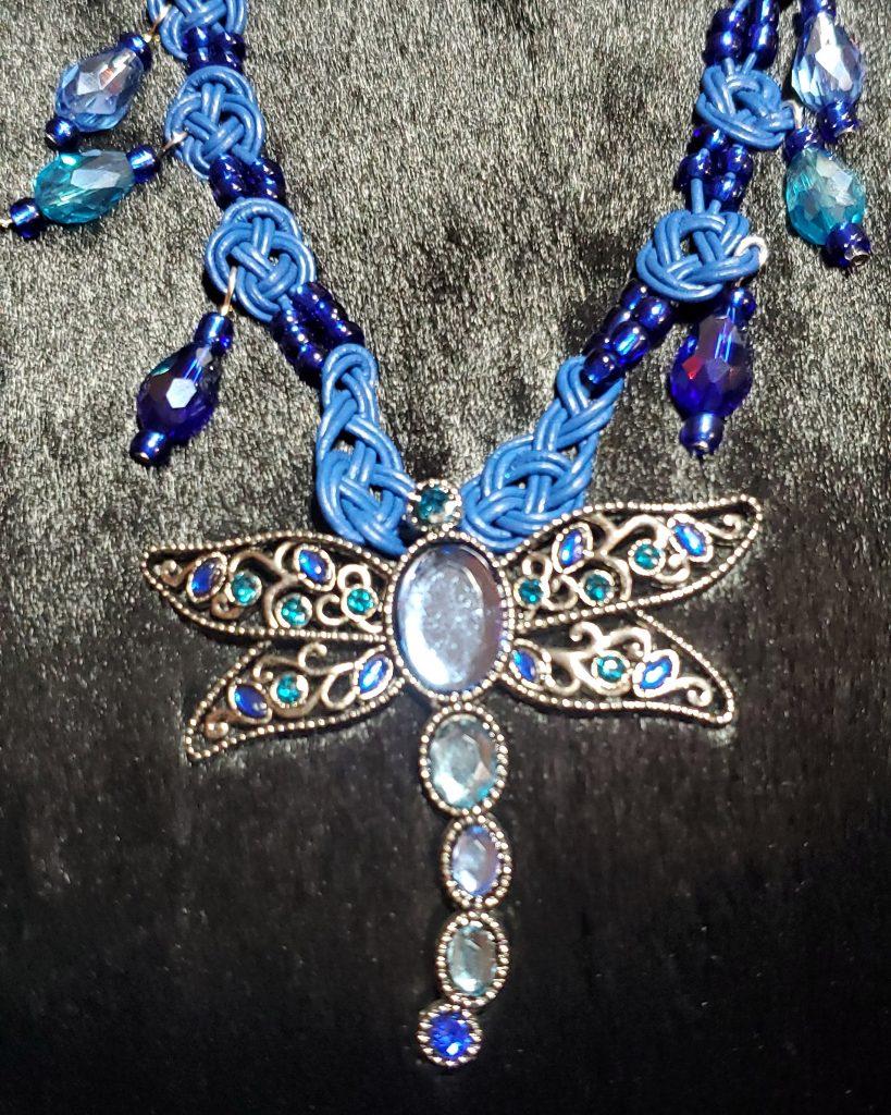 Celtic-Necklace-by-Kathy-Herdzina-Blue-Dragonfly