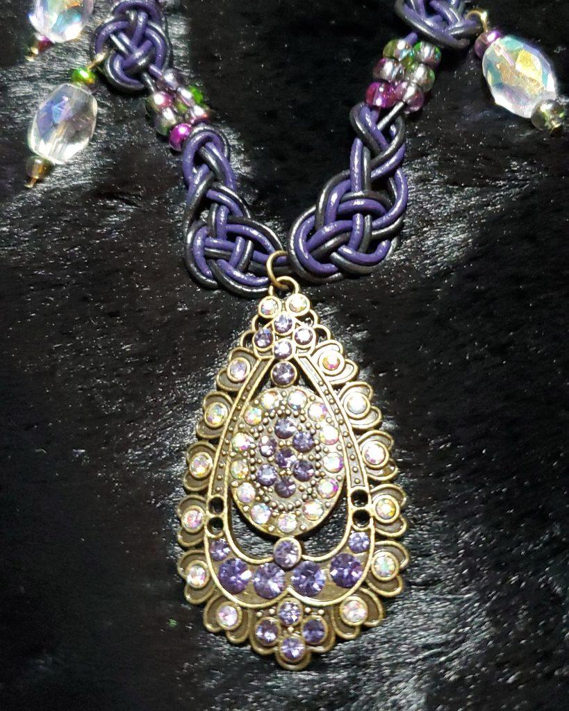 Celtic-Necklace-by-Kathy-Herdzina-Purple-Drop