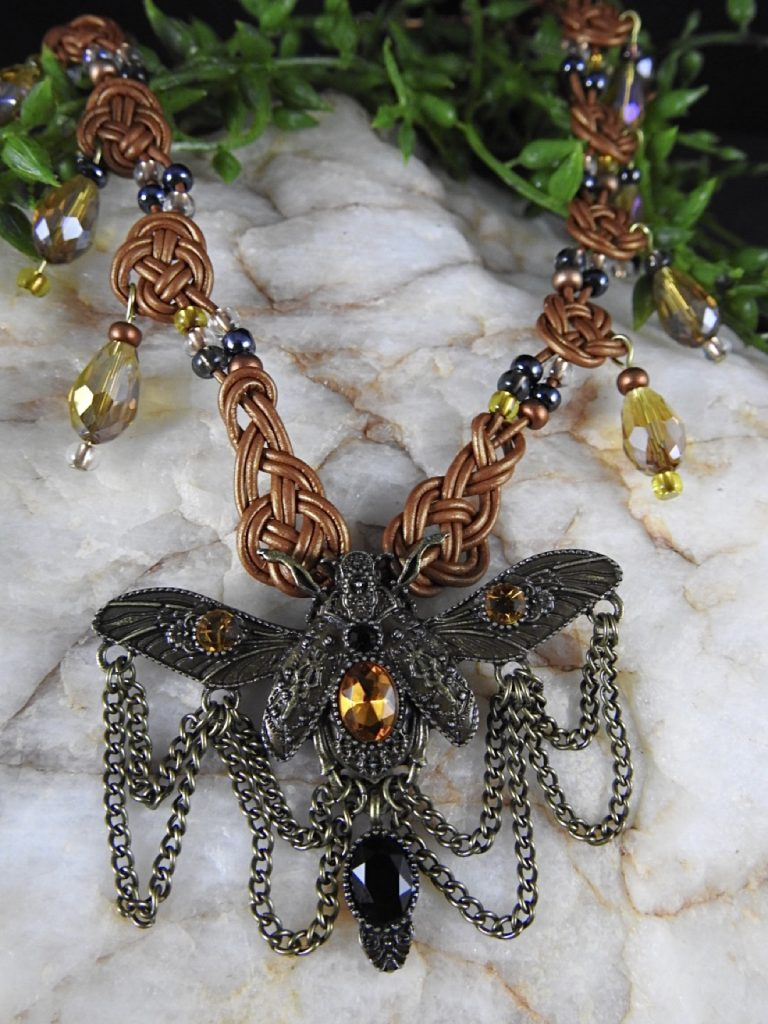 Celtic-Necklace-by-Kathy-Herdzina-Topaz-Dragonfly