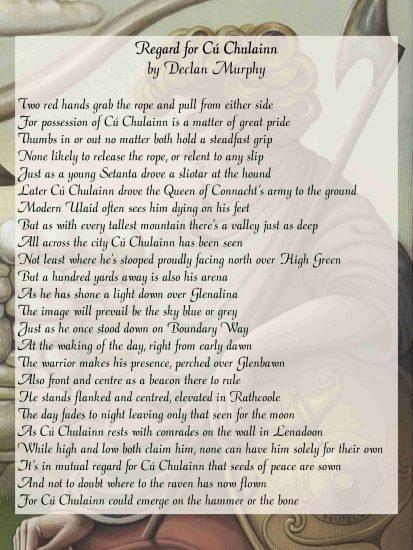 Cú Chulainn Celtic Mystic Poem by Declan Murphy