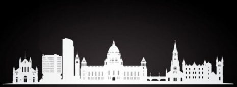 Dublin-Ireland-Parliment-Government-Buildings-White-Silhouette