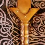 Kult of Athena Broze-Era Celtic Sword Hilt Detail