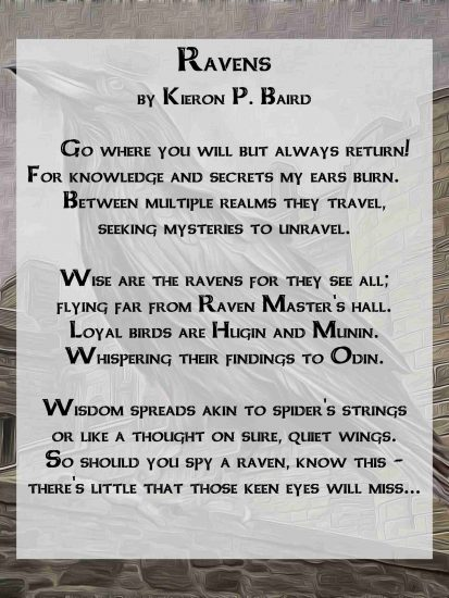 Ravens a Celtic Poem by Kieron P. Baird
