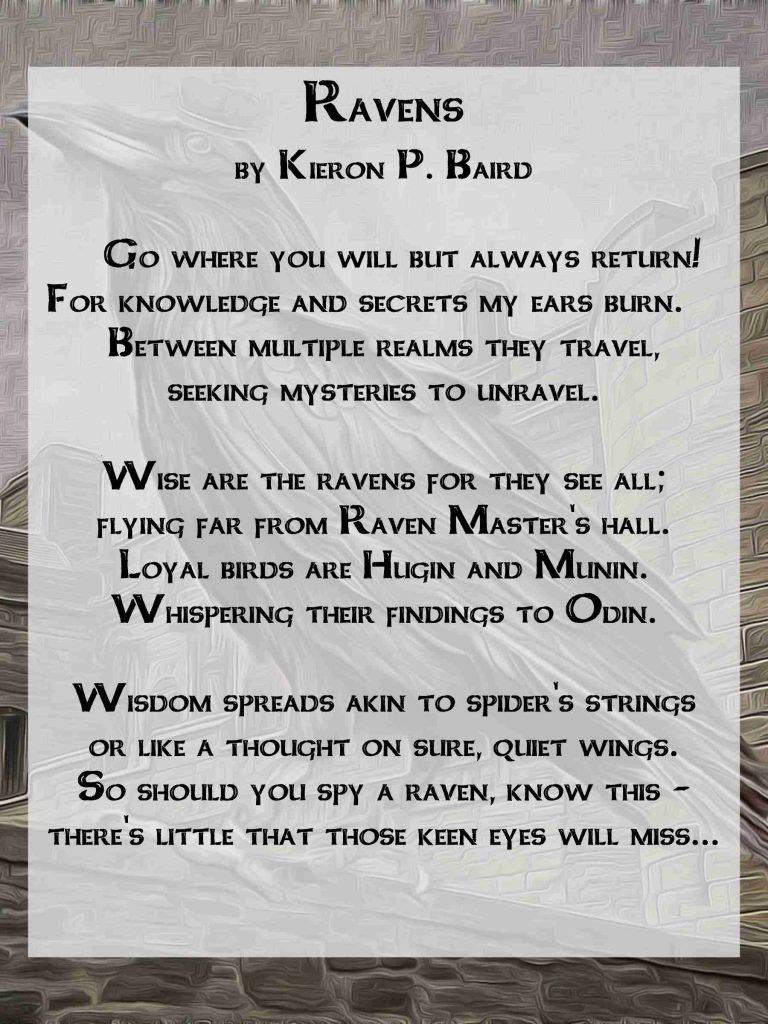 Ravens a Celtic Poem by Kieron P. Baird