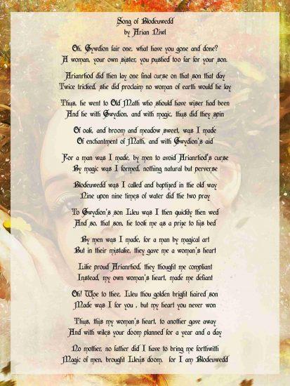 Song of Blodeuwedd by Arian Niwl