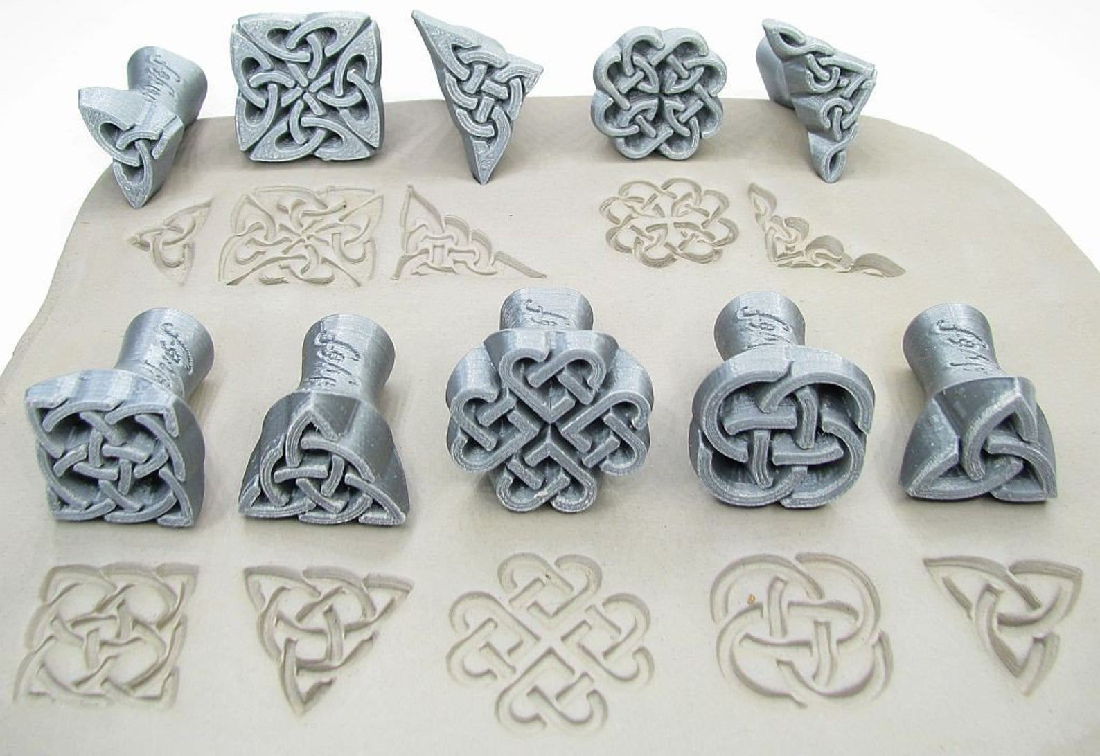 Celtic Pottery Stamps by Relyef