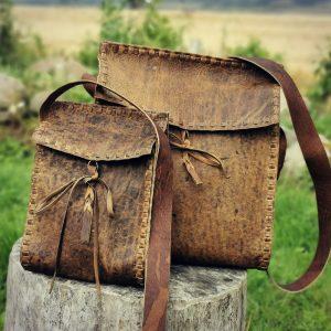 Crannog Bags (Acorn tanned Scottish red deerskin)