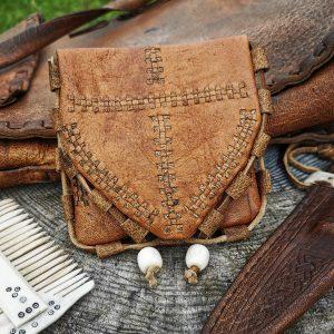 Norsemans purse (bark tanned deerskin)