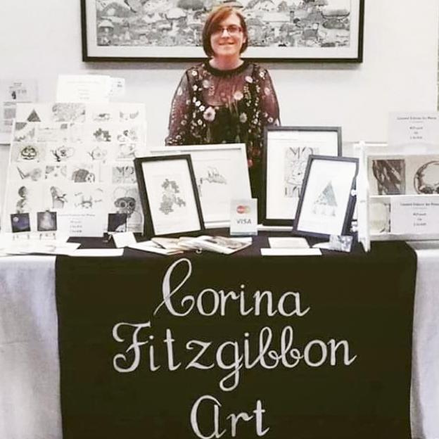 Corina Fitzgibbon Art detailed pen drawings
